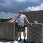 Commercial rooftop HVAC installation