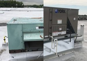 Before and after HVAC installation