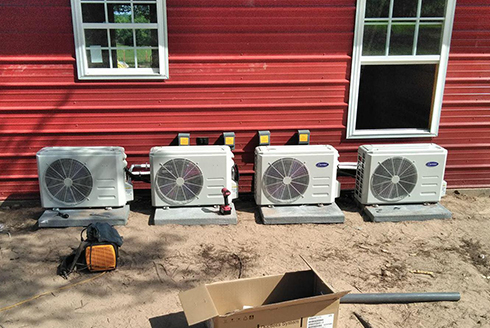 newly-installed air conditioner