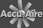 Accu-Aire Black and White Logo