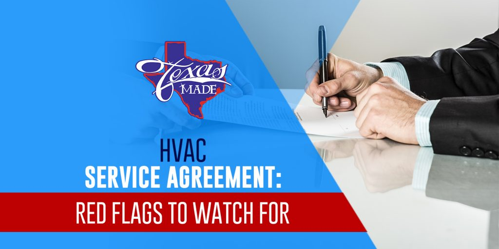 HVAC Service Agreement: Red Flags to Watch For