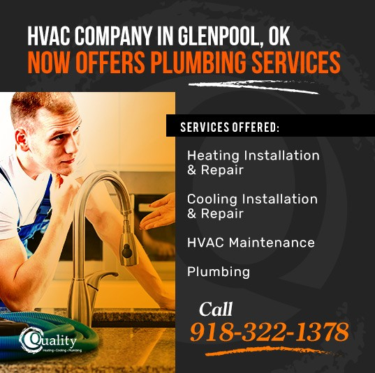 Plumbing Services offered by Quality Heating, Cooling & Plumbing - Glenpool, OK