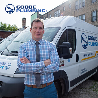 Goode Plumbing Staff and Service Truck
