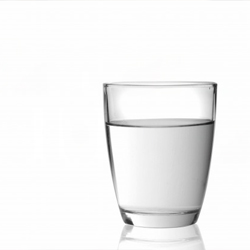 A glass with water