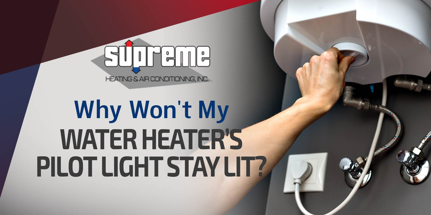 Why Won't My Water Heater's Pilot Light Stay Lit?